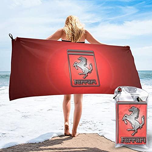 Ferrari - Juego de toallas de baño súper absorbentes, 100% algodón puro, lavables, de lujo, para uso diario, 70 x 140 cm