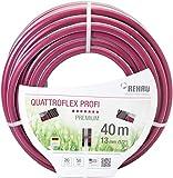 REHAU Premium-Gartenschlauch QUATTROFLEX Profi für professionelle Anwendungen, kein abknicken, kein verdrehen, extrem druckfest, 13mm (1/2') 40m