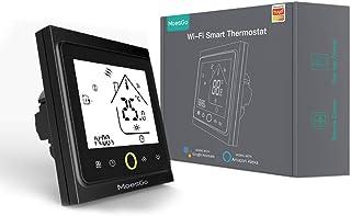 MoesGo termostato Smart WiFi programmabile con controllo della temperatura per impianti di riscaldamento ad acqua, compati...