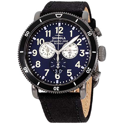 Shinola The Runwell Sport Chrono Blue Dial Canvas Strap Men's Watch S0120121778