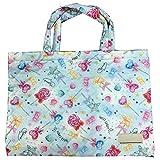 (Muu3) レッスンバッグ ポケット付き 絵本バッグ 手作り風 男の子 絵本袋 手さげ おけいこバッグ 帆布 女の子 (キャンディー)