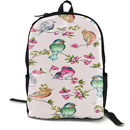 Wfispiy gekleurde vogel school boekentassen tieners, rugzak college tassen jonge mensen Daypack