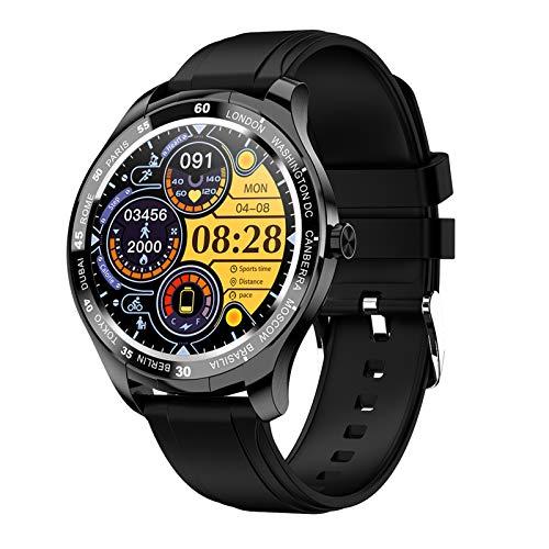 FMSBSC Smartwatch Mujer Hombre Reloj Inteligente Monitor de Sueño Pulsómetros, 10 Modos Deportivos Fitness Tracker,Negro