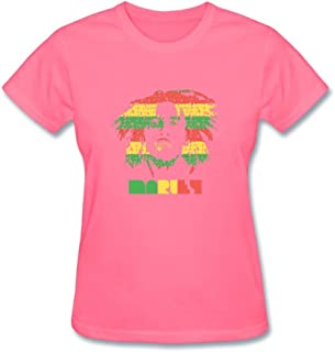 SAMJOS Women's Bob Marley Art T-Shirt