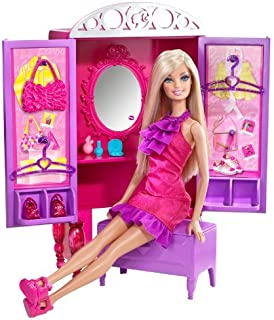 barbie dress up to makeup closet