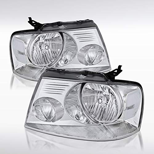 Autozensation For Ford F150 & Lincoln Mark LT Crystal Euro Clear Style Headlights