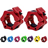 Strainho Quick Release Weight Clamps - Locking 2' Olympic Size Barbell Collars - Bar Clips for...