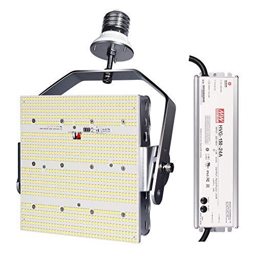 150W Shoebox LED Retrofit Kits=600W MH/HPS/HID 6000K E39 Mogul Base Retrofit LED Parking Lot Lights Tennis Court Lights,ETL DLC Approved,AC200-480V