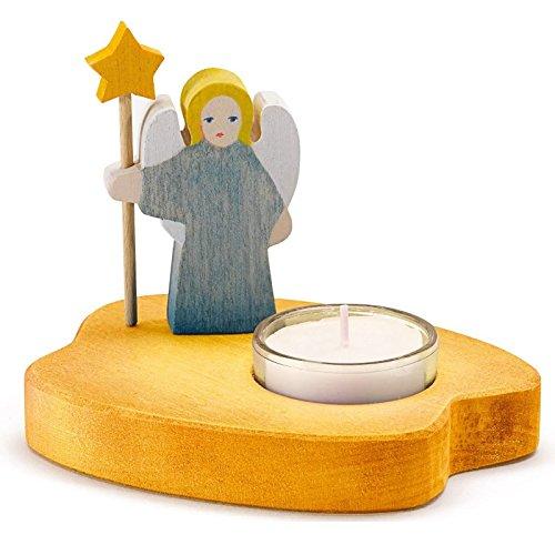 Teelicht mit Engel blau Ostheimer Kinderkram 5530281
