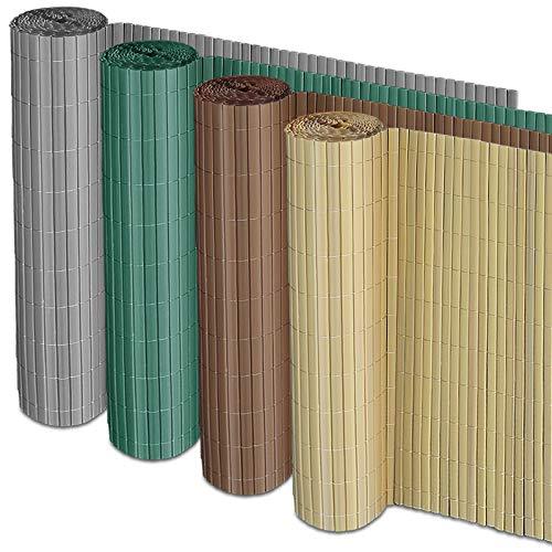 casa pura Sichtschutz Zaun für Außenbereich | grau | für Balkon, Terrasse und Garten | Größe wählbar (200x500cm)