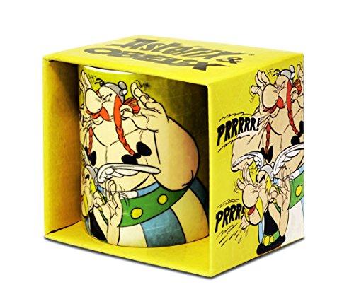 Asterix der Gallier - Asterix & Obelix Prrrrr Porzellan Tasse - Kaffeebecher - farbig - Lizenziertes Originaldesign - Logoshirt