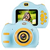 ZEEPIN Kids Digital Camera , 1080P FHD Children Video Cameras with 2.4' Color Screen Great Gifts for 4-8 Year Old Boys to Play, Blue (16GB Memory Card Included)