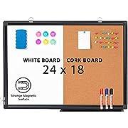Combination White Board & Bulletin Cork Board