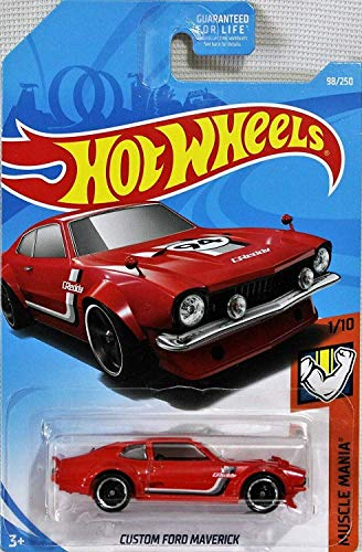 Hot Wheels 2019 Muscle Mania 98/250: Custom Ford Maverick (Red) - International Long Card