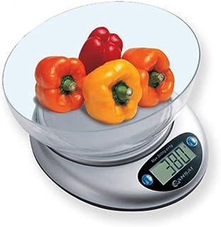 Sansai Electronic Digital Kitchen Scale w/Bowl 1g-3kg Food/Cook Measuring White