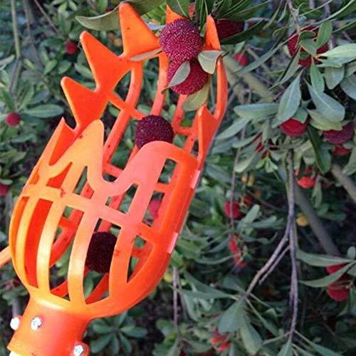 Obstpflücker aus Kunststoff, arbeitssparendes Werkzeug, Obstfang für Ernte, Apfel, Mango, Birne, Pfirsich, Mango, Kiwi, Zitrone, Kirsche (Orange)
