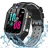 GBD Smart Watch for Kids-IP67 Waterproof Smartwatch Phone with Call Games SOS Alarm Clock 12/24 Hr,Kids Digital Wrist Watch Stopwatch for Children Boys Girls Learning Toys Valentines Gifts (Black)