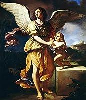 ナンバーキットによるDIYフィリングオイルキャンバスペイントブラシとアクリル顔料で神聖な天使の聖なる純粋な女の子大人のためのDIYキャンバス絵画初心者の静物