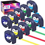 WEEMAY Compatible Label Tape Replacement for Dymo LetraTag Refills Plastic 91331 91332 91333 91334 91335, for LetraTag LT-100H LT-100T Plus LT-110T QX50 2000 XR (12mm x 4m, 10 Pack)