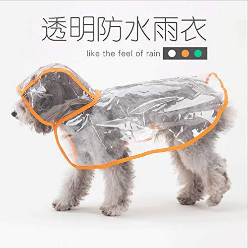 Spring puppy hond waterdichte regenjas kleding dunne modellen zomer bulldog puppy hond huisdier kleine gele cabriolet transparante paraplu M (Teddy gewijd)