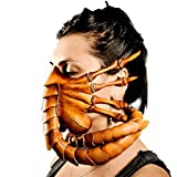 Facehugger Mask Horror Halloween Alien Hugger Costume leather Scorpion Latex Mask Scary Face Cover Party Cosplay Prop