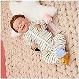 JXWANG MuñEca Renacida NiñO - 18Pulgadas 46Cm Bebé Reborn Realista De Silicona, Bebes Reborn - Regalos NavideñOs para NiñOs