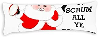 Yilooom Rugby Christmas Body Pillow Cover Pillowcases with Envelope Closure Double Sided Body Pillow Cases 20