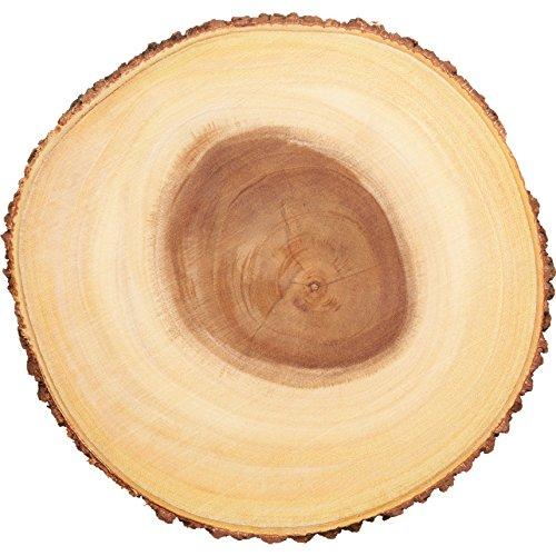 Artesa Árbol tronco Tabla de quesos/bandeja con borde de corteza de madera natural, 30cm, 12 pulgadas, diseño redondo, Madera, Marrón, 30x 30x 2.2cm