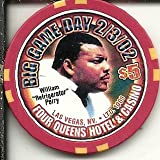 $5 four queens vintage las vegas casino chip big game day william the refrigerator perry