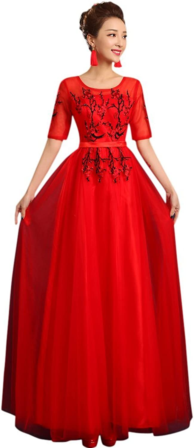 Drasawee Juniors 3 4 Sleeves Long SlimCut Evening Dresses Homecoming Gowns RedUS14