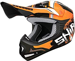001211-0007-S//449 SHIRO 001211-0007-S//449 Casco Enduro Offroad Motocross MX-917 Leopard Color Azul Talla S SHIRO