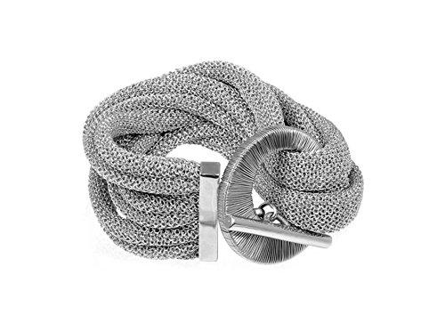 Adami & Martucci rhodiniert Silber Milanaisearmband