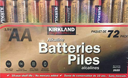 Kirkland AA Alkaline Batteries 1.5-V - 72 Count