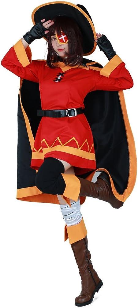 miccostumes Women's online shopping Megumin Cosplay Cloak Cost Dress Costume Red Minneapolis Mall