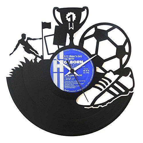 Soccer Gift idea Football player idea Soccer clock Vinyl Clock Wall clock Soccer team Idea for prizes original Made in Italy