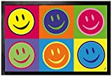 1art1 Emoticonos - Emoji, Smilies, Warhol Style Pop Art Felpudo Alfombra (60 x 40cm)