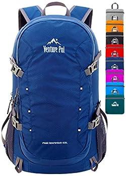 Venture Pal 40L Lightweight Packable Travel Hiking Backpack Daypack-Navy