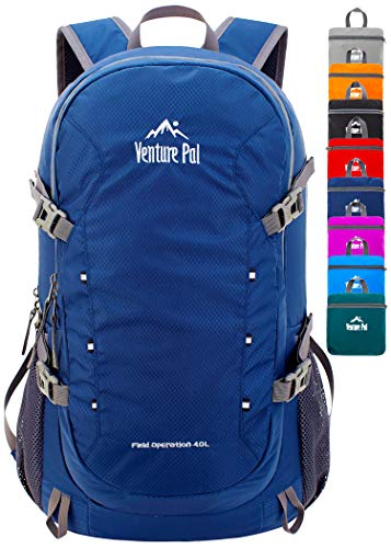 Venture Pal 40L Lightweight Packable Travel Hiking Backpack Daypack, A5 Navy, One Size