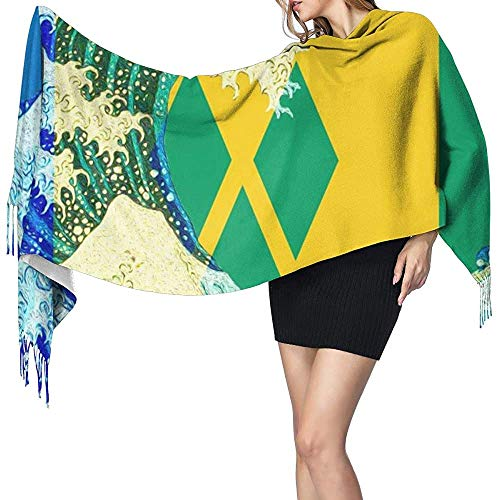 Sjaal Sjaal Wraps Cashmere Voel Sjaal Sint Maarten Vlag Grote Sjaal Super Zachte Warm Luxe