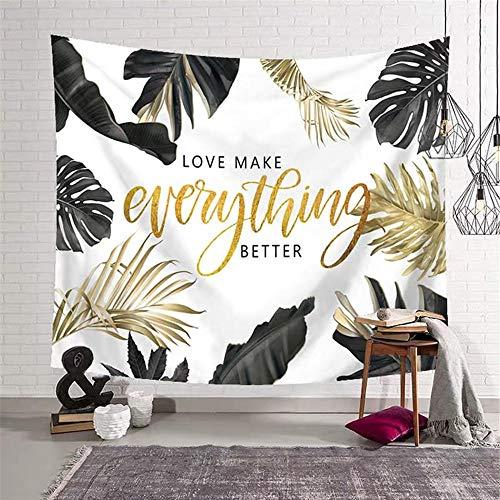Bohemia Tropical Rain Forest Tapiz de pared de tela Playa Manta colgante Decoraciones para el hogar-150x200cm