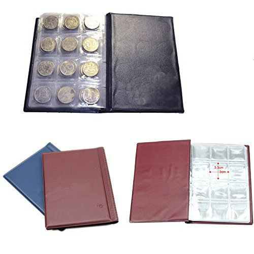 Bhbuy 15 pcs Hot 120 Coin Holder Collection Storage Collecting Money Penny Pockets Album Book