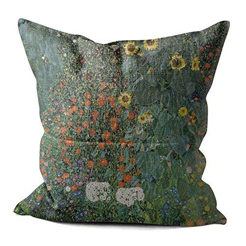 YuAPiNY 40x40 cm Cushion Cover, THE SUNFLOWER Pattern Cotton Linen Home Decor Throw Pillow Case Cushion Cover 16x16 Inch YuA'006