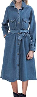 Rosatro Women Denim Jackets Ladies Casual Wash Denim Long Jean Coat Full Sleeve Shrug Outwear Jacket