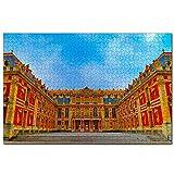 Francia Palacio de Versalles París Rompecabezas para Adultos, 1000 Piezas de Madera, Regalo de Viaje, Recuerdo, 30x20 Pulgadas