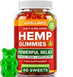 Hemp Gummies 100,000MG - Premium Hemp Gummy Bears for Stress & Anxiety Relief - Made in USA - Hemp Extract Natural Calm Gummies - Efficient with Inflammation, Stress & Sleep Issues - Omega 3 Gummies
