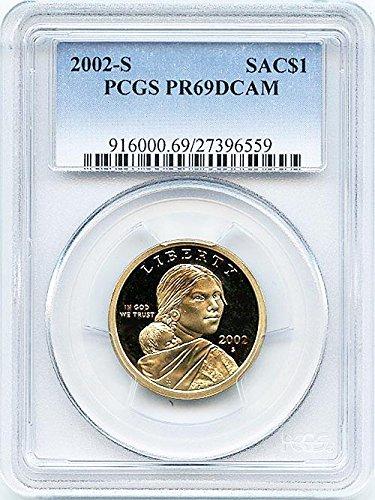 2002 S Proof Sacagawea Dollar PCGS PR 69 DCAM New Blue Label Holder