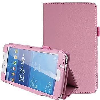 Samsung Galaxy Tab 4 7.0,7-Inch Case,Tab 4 7.0 Case,Samsung Tablet Case 7 inch,Ultra Slim Folding PU Leather Stand Case Cover for Samsung Galaxy Tab 4 7 7.0  Tablet SM-T230 SM-T231 SM-235,Pink