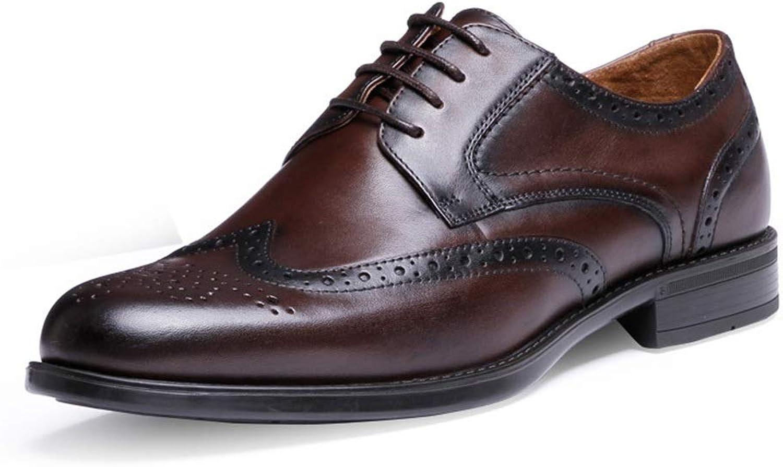 JESSIEKERVIN YY3 Leder Herrenschuhe mit einem einzigen Schuh Freizeitschuhe Herrenbekleidung Geschft Brock Herrenschuhe (Farbe   Dunkelbraun, Größe   40)