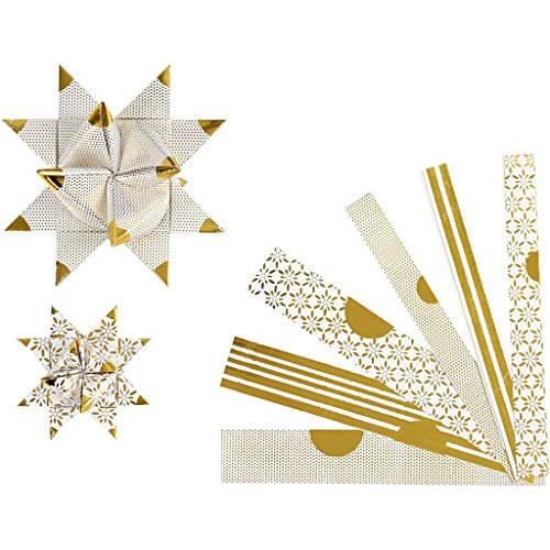 Papierstreifen für Sterne, B: 15+25 mm, D: 6,5+11,5 cm, Skagen, 48Stck.