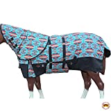 HILASON 78' 1200D Winter Horse Blanket W/Neck Cover Belly Wrap Turquoise